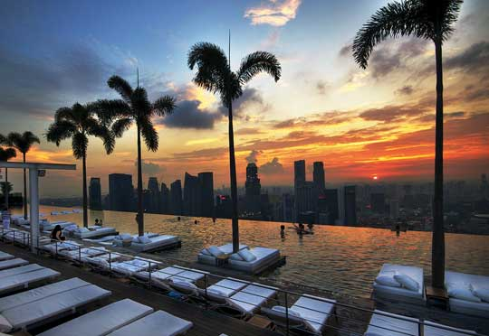 Pool des Marina Bay Sands Singapur