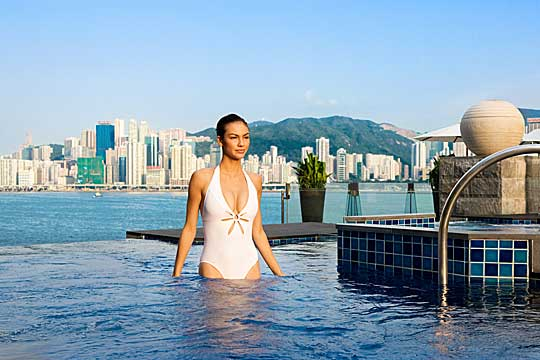 Pool des Intercontinental Hotels in Hongkong