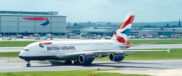 A380 von British Airways