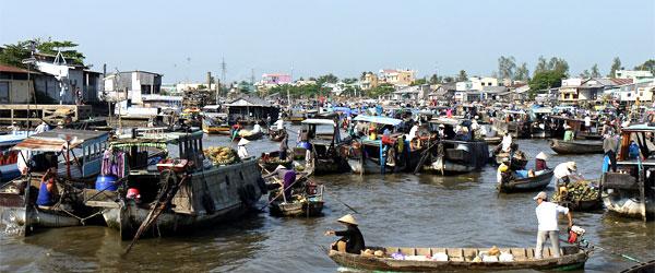 Schwimmender Markt von Can Tho Vietnam